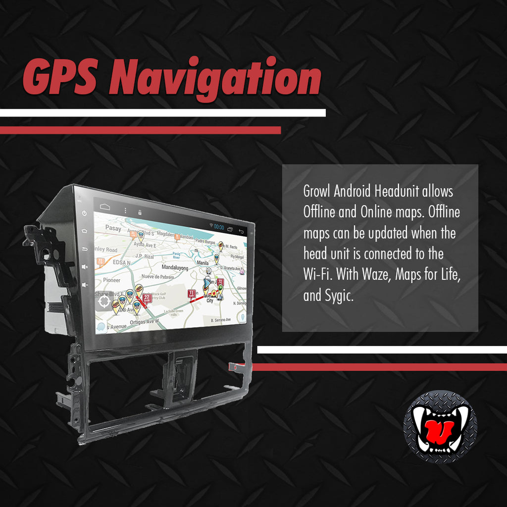 "Growl for Toyota Vios 2013-2018 All Variants Android Head Unit 10"" Screen"