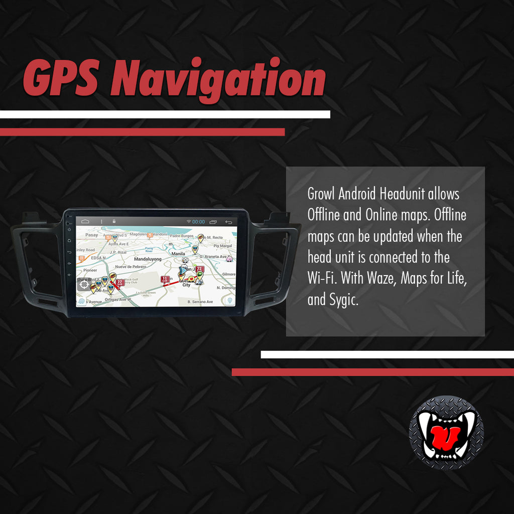 "Growl for Toyota RAV4 2013-2018 All Variants Android Head Unit 9"" Screen"