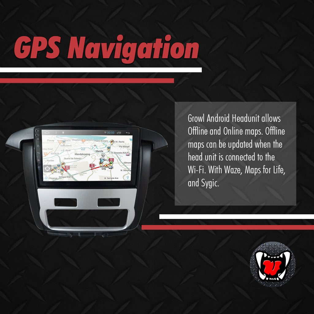 "Growl for Toyota Innova 2012- 2015 Variant G and V Android Head Unit 9"" Screen"