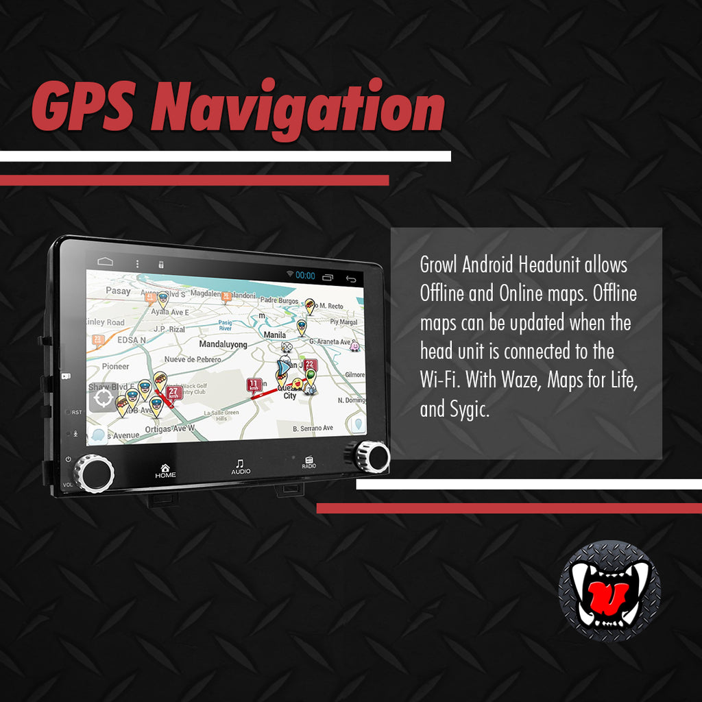 "Growl for Kia Rio 2012-2015 All Variants Android Head Unit 7"" with panel"