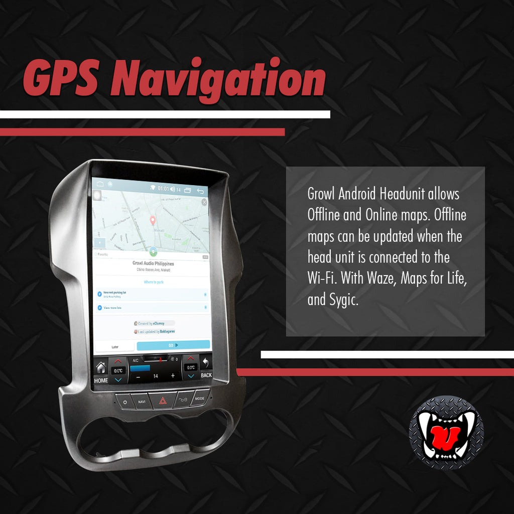 "Growl for Ford Ranger 2013-2015 T6 Variants Android Head Unit 13.1"" FULL TAB"
