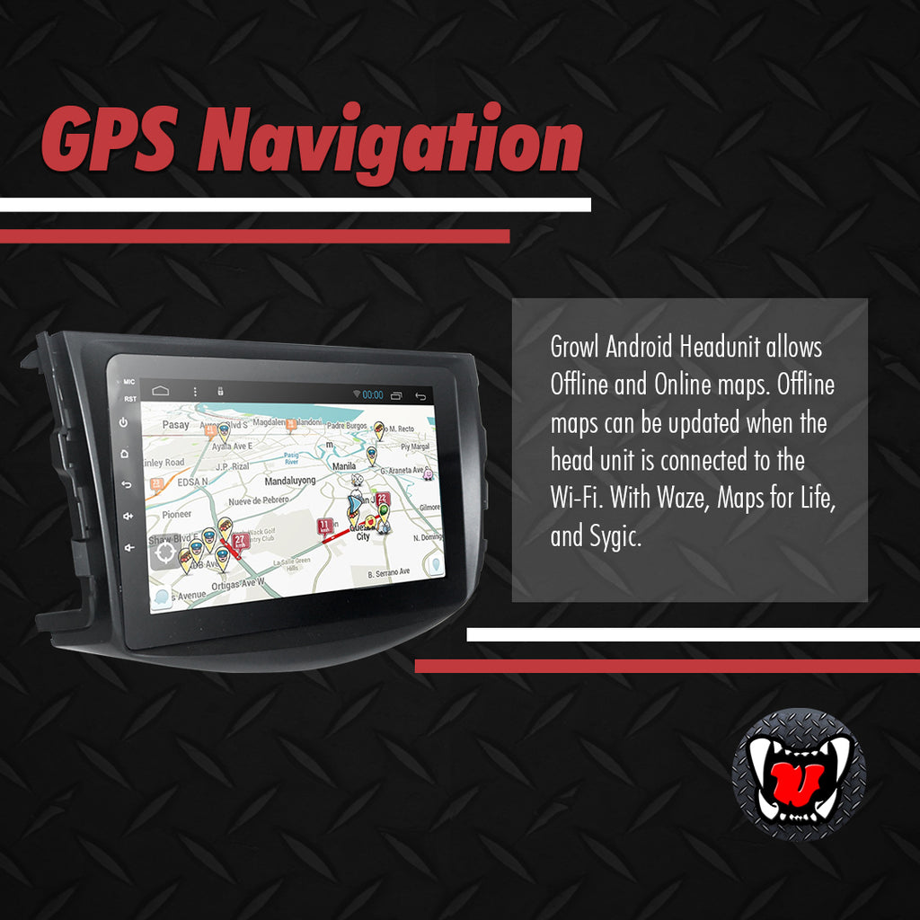 "Growl for Toyota RAV4 2007-2012 All Variants Android Head Unit 9"" Screen"