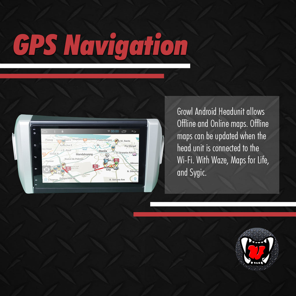 "Growl for Toyota Innova 2016- 2020 All Variants Android Head Unit 9"" Screen"