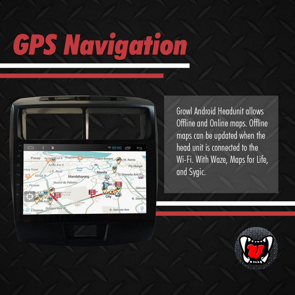 "Growl for Toyota Avanza 2017-2018 All Variants Android Head Unit 9"" Screen"
