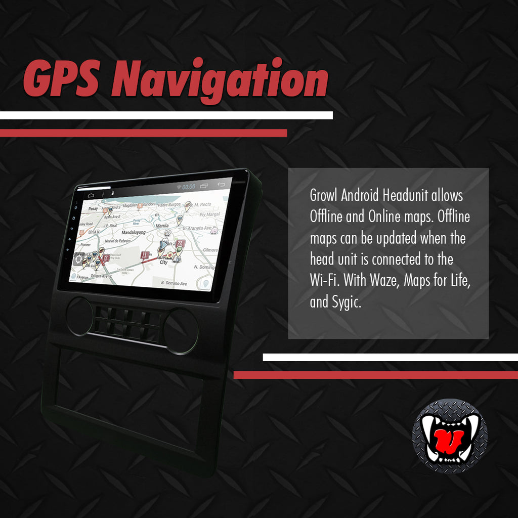 "Growl for Foton Traveller 2014-2020 Android Head Unit 9"" FULL TAB"
