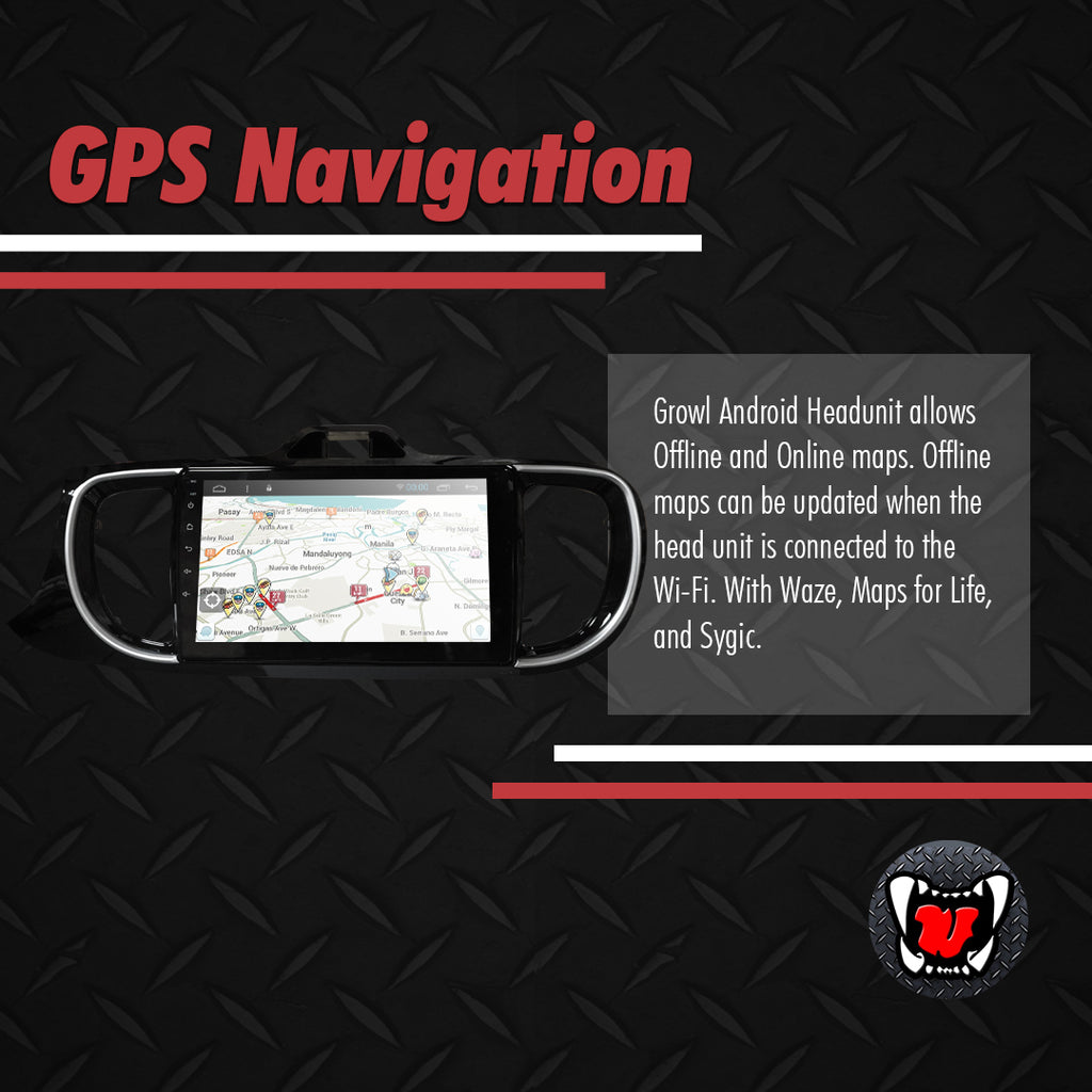 Growl for kia Soluto All Variants Android Head Unit 9""