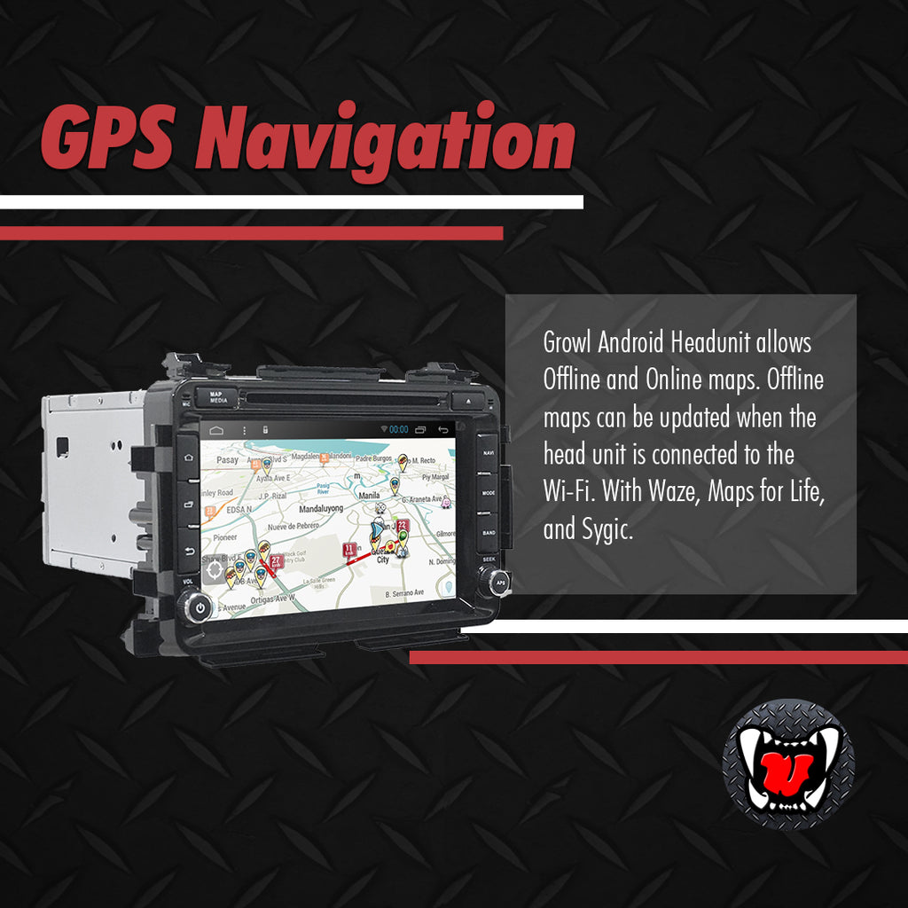 "Growl for Honda HRV 2016- 2020 All Variants Android Head Unit 8"" BUTTON TYPE"