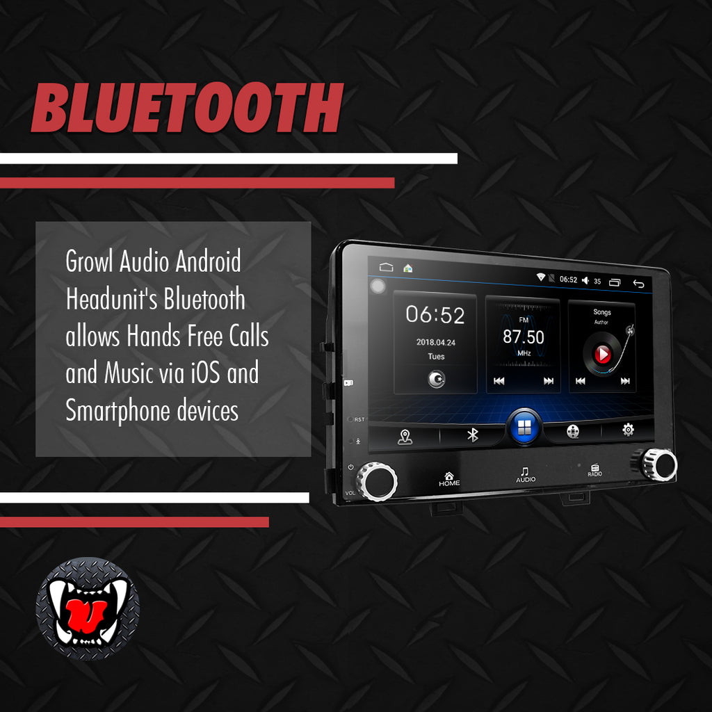 "Growl for Kia All New Rio 2018-2020 All Variants Android Head Unit 8"" FULL TAB"