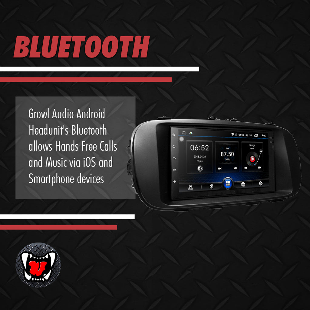 "Growl for Kia Soul 2015-2019 Low End Android Head Unit 7"" 2din with Panel"