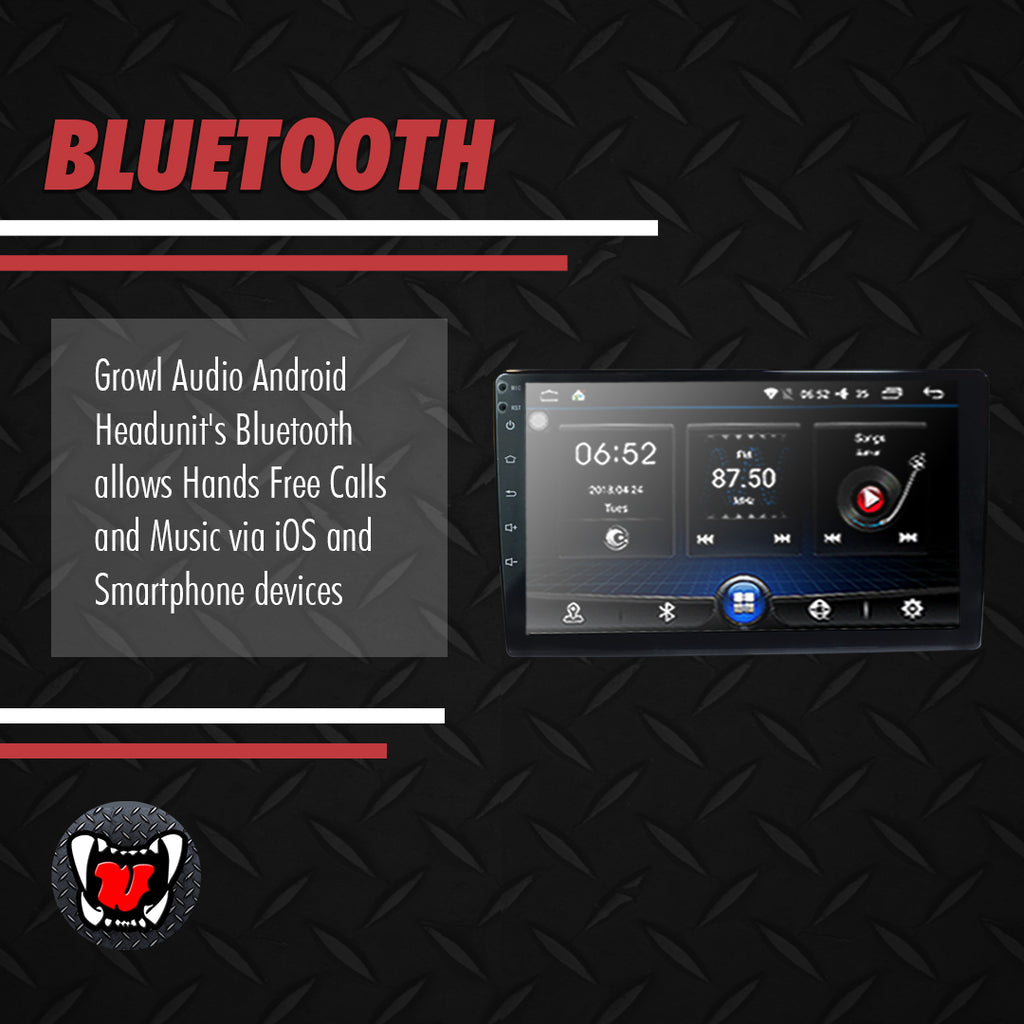"Growl Universal Android Head Unit 10"" Screen"