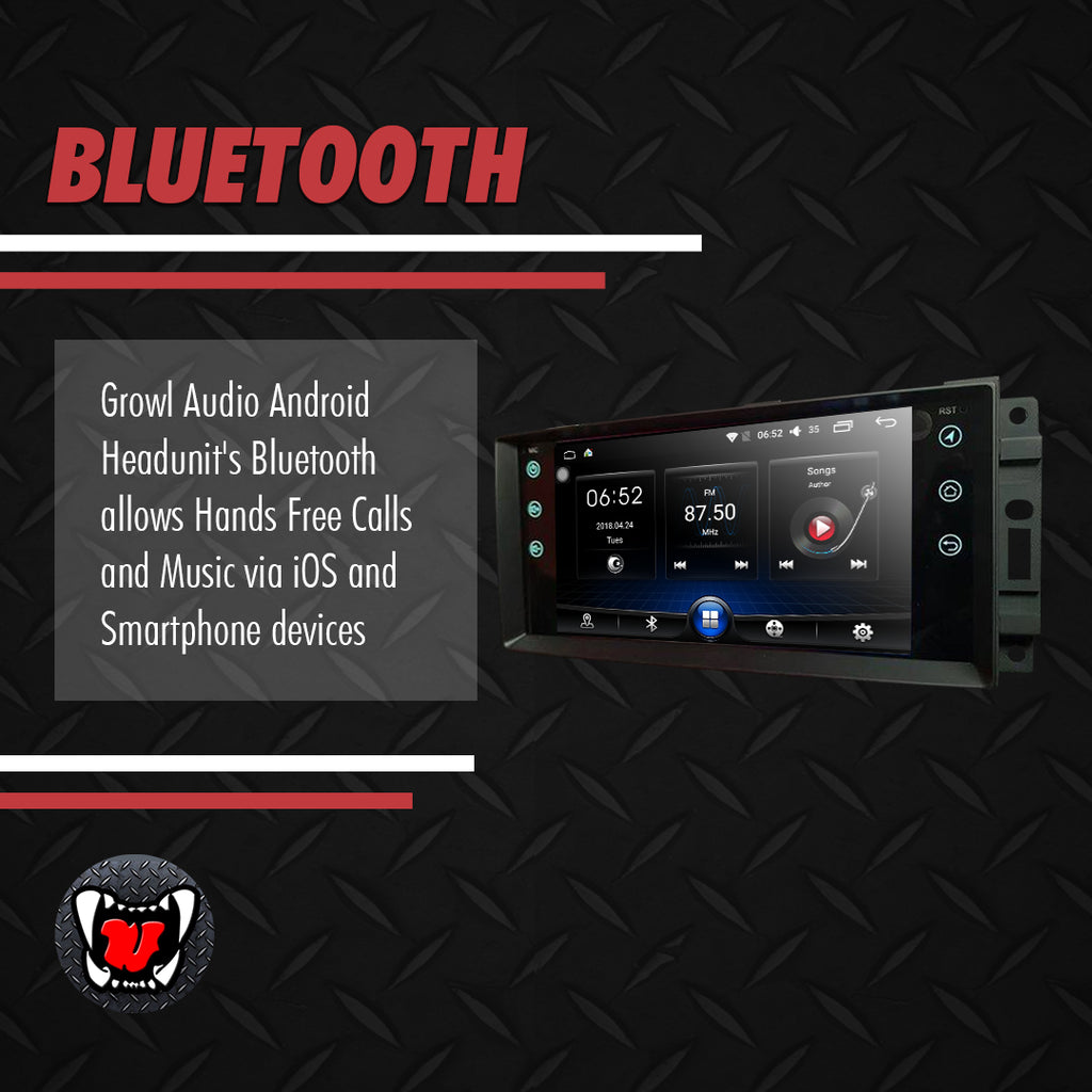 Growl for Jeep Rubicon 2014-2017 All Variants Android Head Unit 7""
