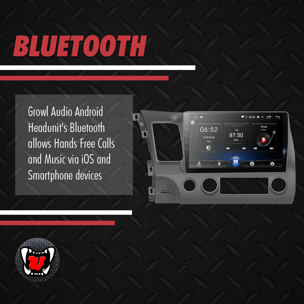 Growl for Honda Civic FD 2007-2011 All Variants Android Head Unit 10""