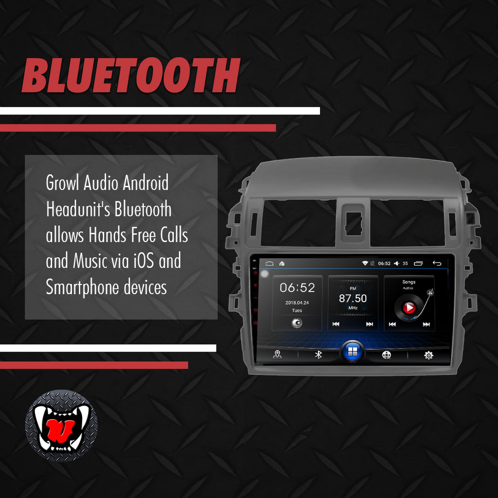 "Growl for Toyota Corolla Altis 2009-2012 All Variants Android Head Unit 9"" Screen"