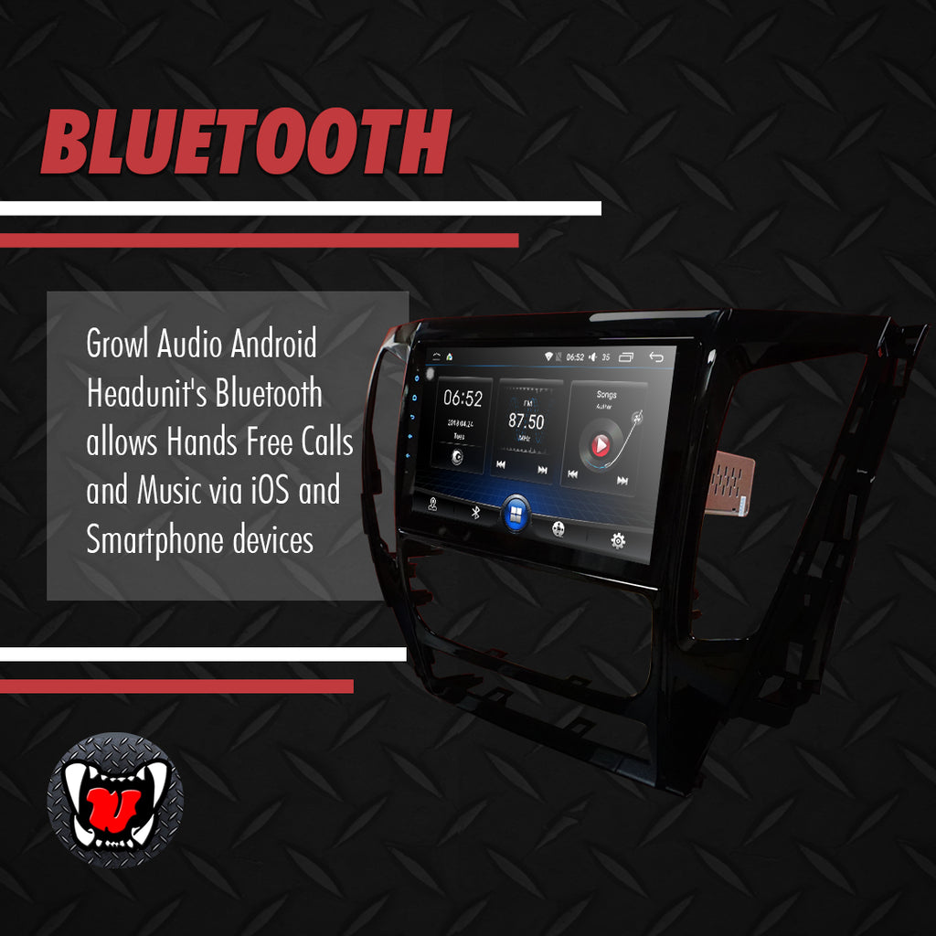 "Growl for Mitsubishi Strada 2016-2018 Push button AC Android Head Unit 9"" FULL TAB"