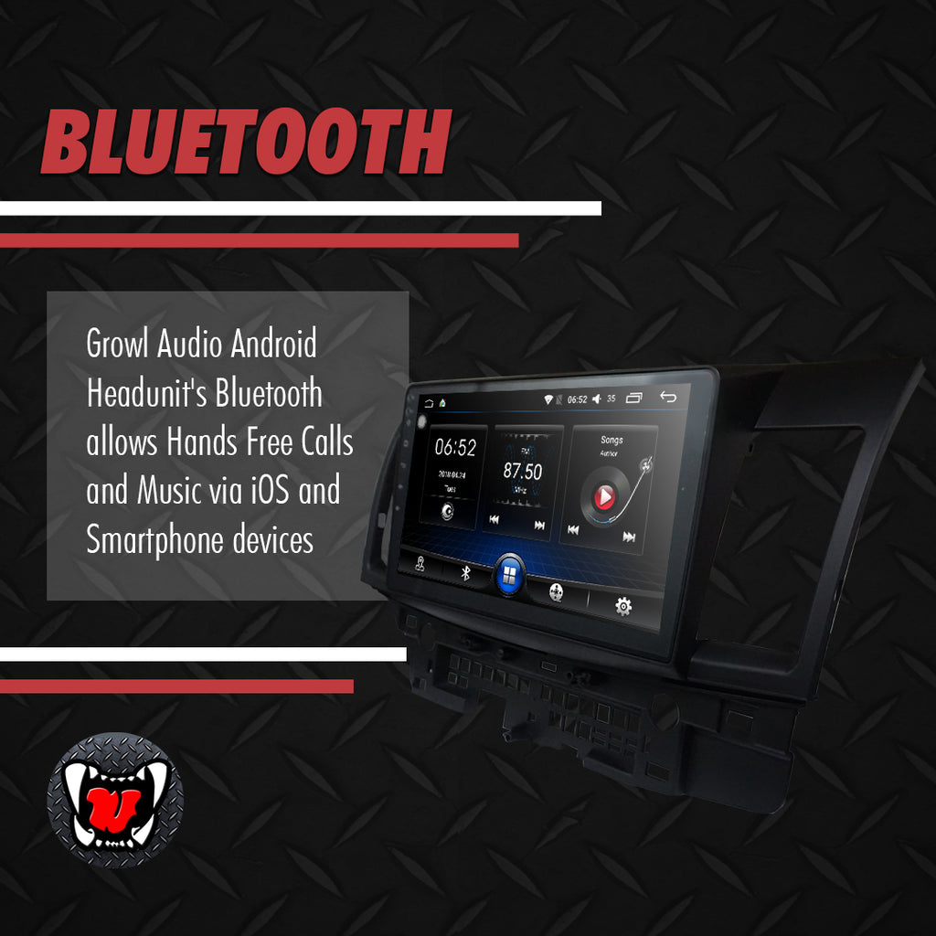 "Growl for Mitsubishi Lancer Ex 2007-2016 All Variants Android Head Unit 10"" FULL TAB"