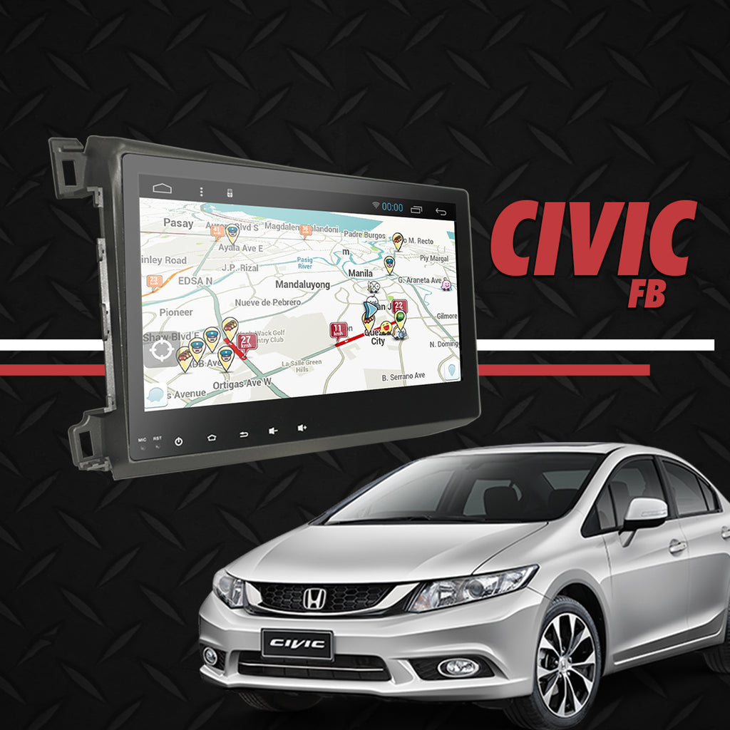 "Growl for Honda Civic FB 2012-2016 All Variants Android Head Unit 9"" FULL TAB"