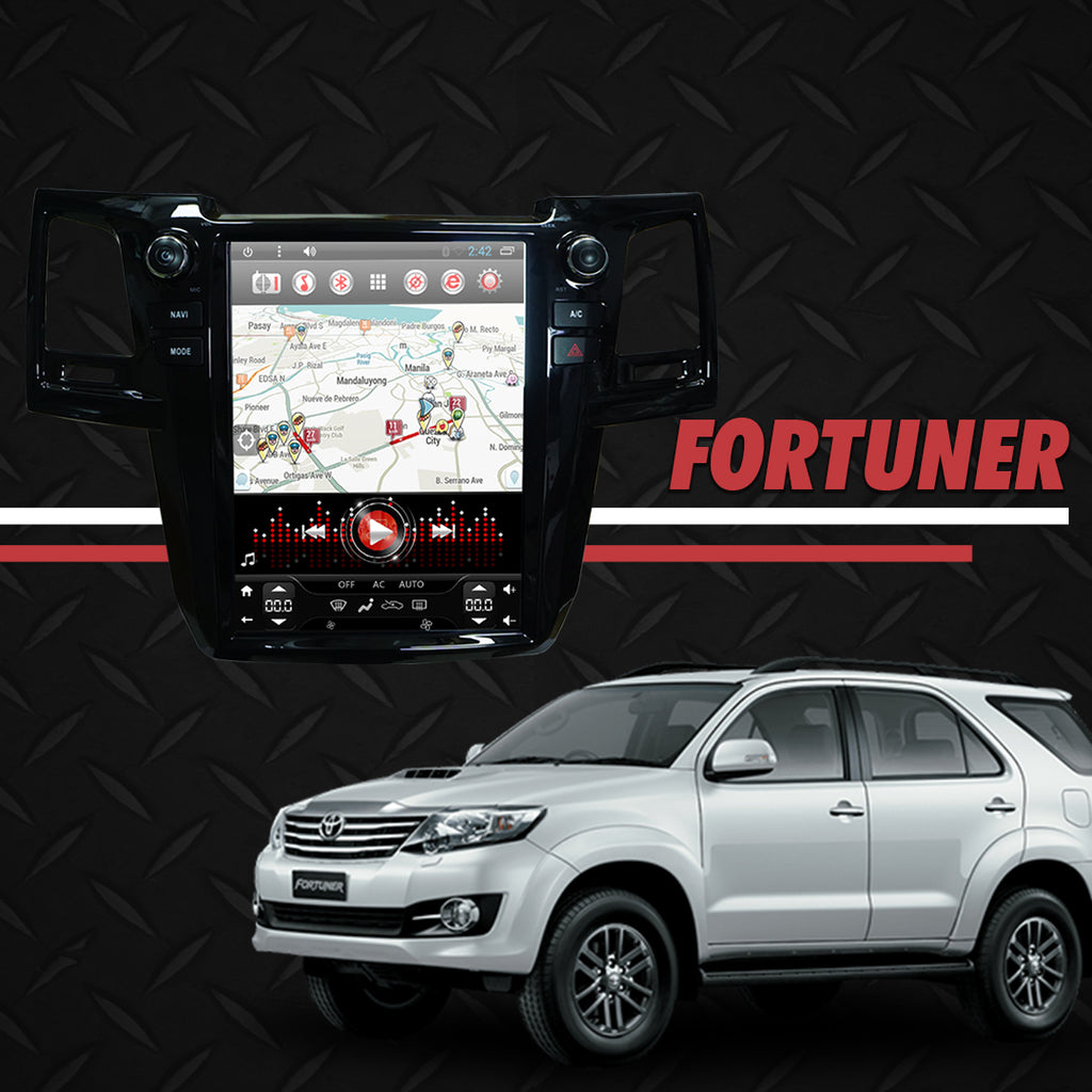 "Growl for Toyota Fortuner 2006-2015 All Variants Android Head Unit 12.1"" Vertical Screen"