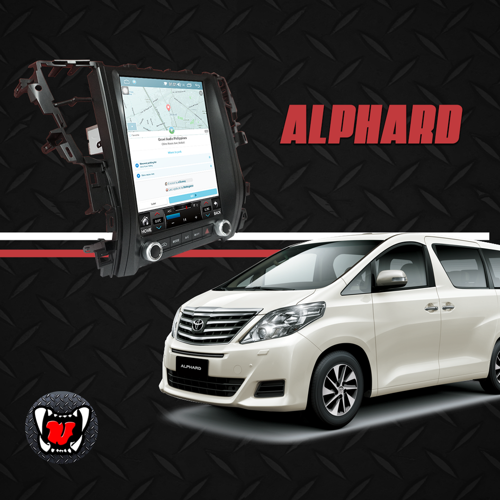 "Growl for Toyota Alphard 2010-2014 All Variants Android Head Unit 12.1"" vertical Screen"