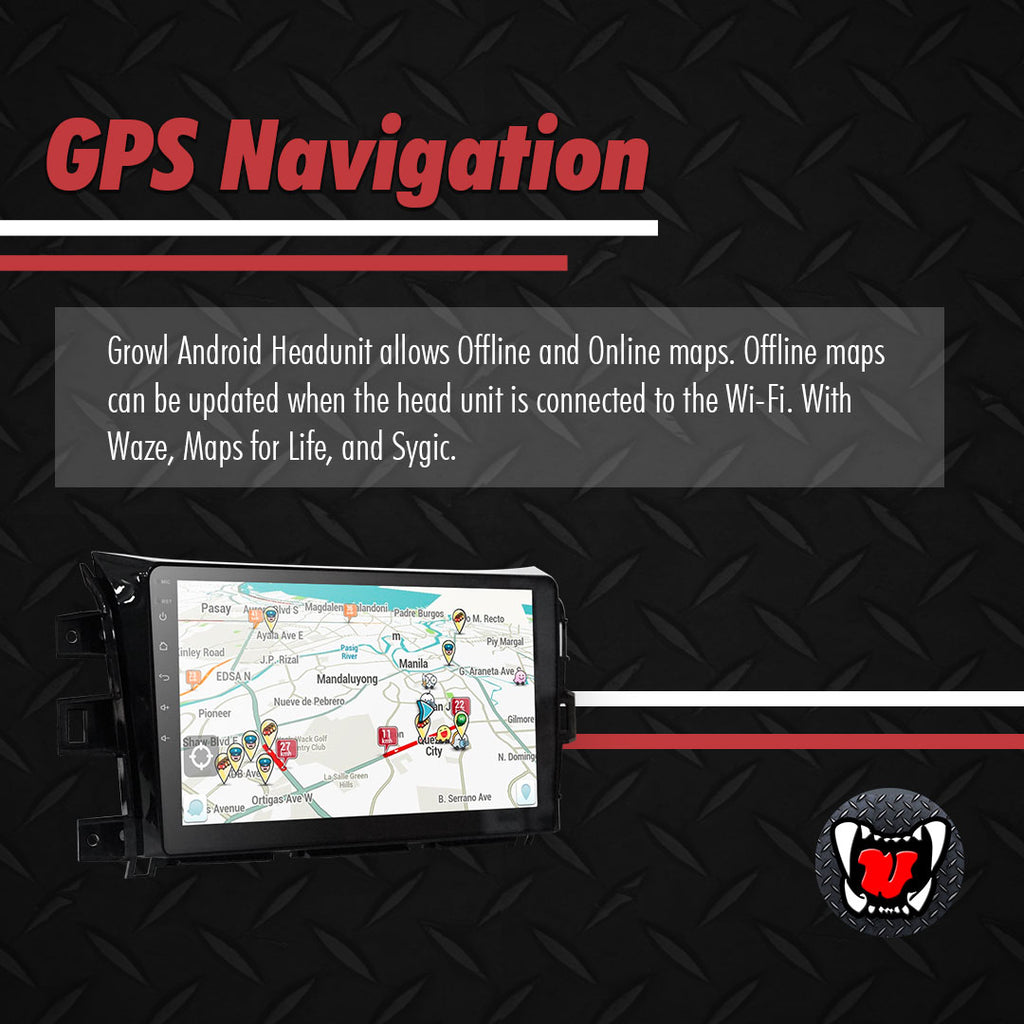 "Growl for Nissan NP300 2014-2020 All Variants Android Head Unit 10"" Screen"
