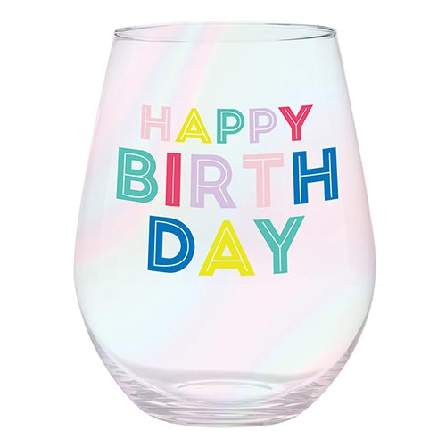 Jumbo Wine Glass - Happy Birthday