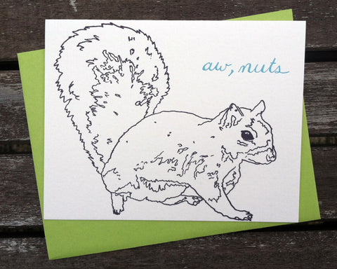 Aw Nuts - blank greeting card