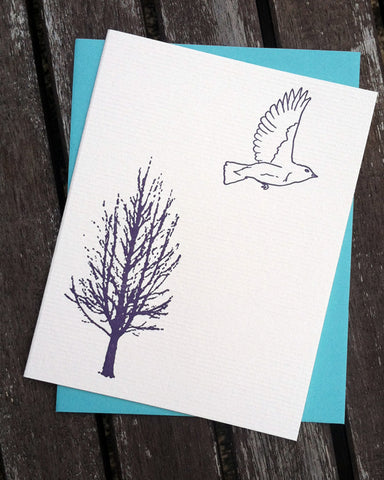 Let's Fly Away - blank greeting card