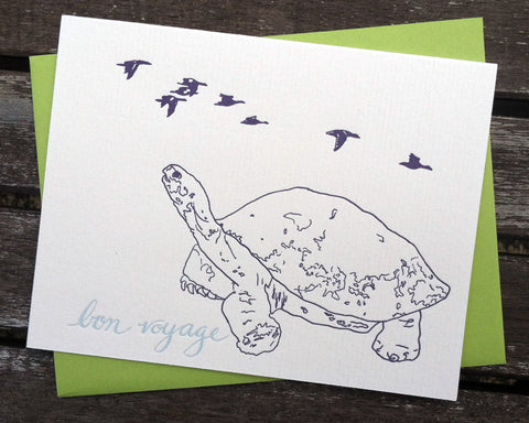 Bon Voyage - blank greeting card