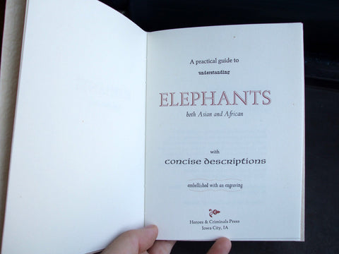 Elephants chapbook