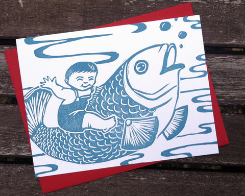 Big Fish - blank greeting card