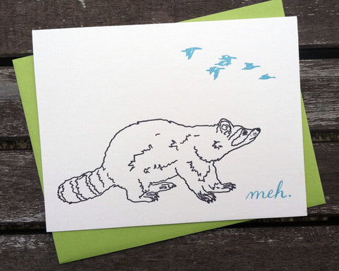 Meh Badger - blank greeting card