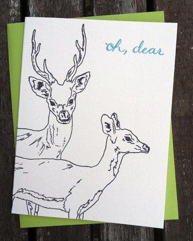 Oh Deer - blank greeting card