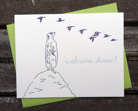 Welcome Home - blank greeting card