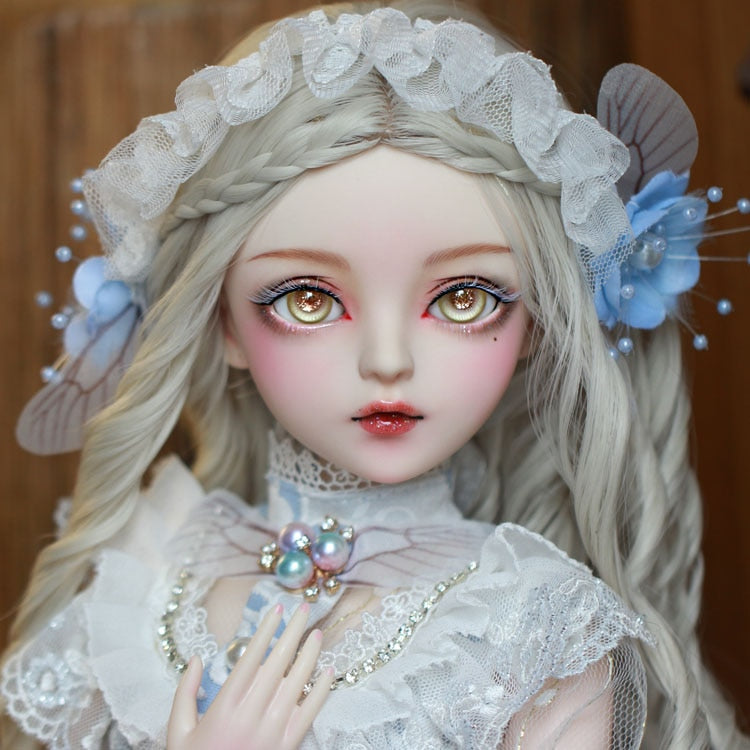 bebe reborn bjd ball jointed Doll gifts for girl  Handpainted makeup fullset Lolita/princess doll  with clothes BUTTERFLY FAIRY