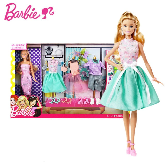 Original Barbie 18 Inch Dolls with Makeup Clothes Accessories Shoes Dolls Beautiful Princess Hair Girls Toys for Kids Children