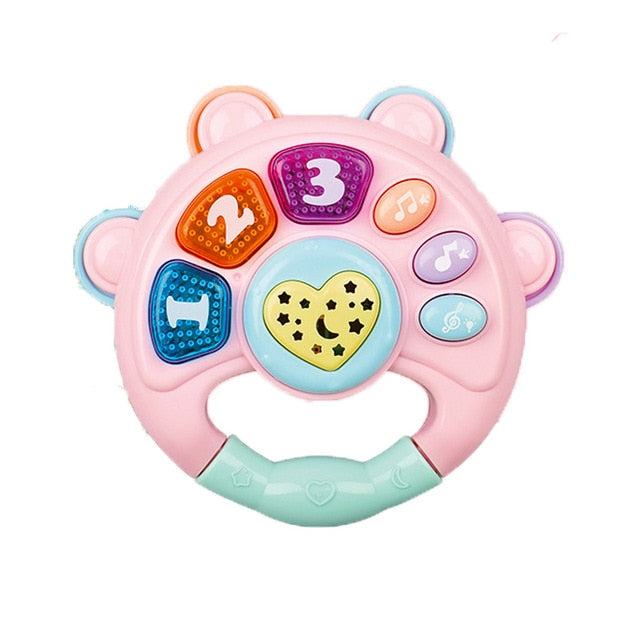 Baby Rattles Toys Newborn Hand Bells Baby Toys 0-12 Months Infant Digital Graphic Cognition Early Educational Toys for Toddlers