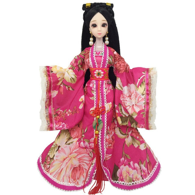 12 Movable Jointed 3D Eyes Chinese Princess Dolls Toys with Accessories Clothes Jewelry Naked Nude Girl Doll Toy For Girls