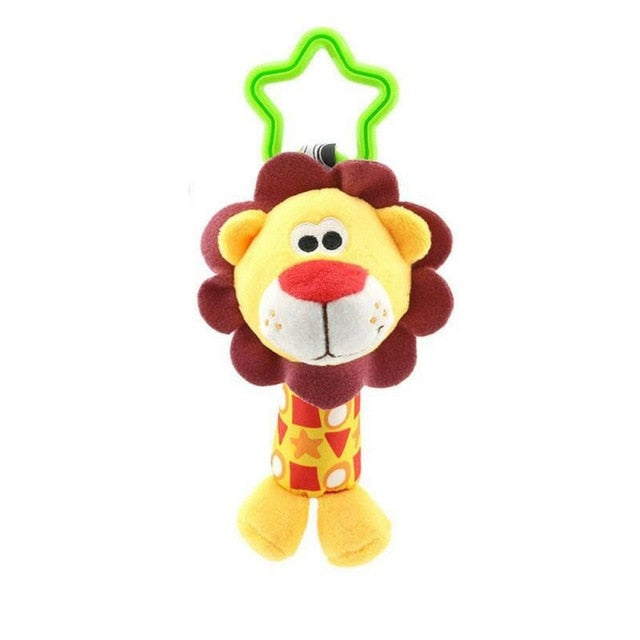 1pc Baby Rattle Toys Baby stroller pendant appease toy car hanging bed hanging animal hand grab rattle Infant Toddler Toys