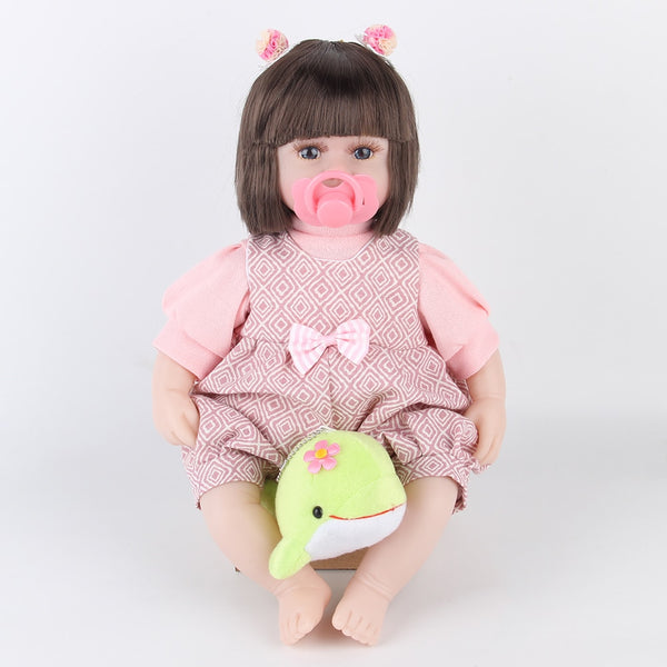 42CM Baby Reborn Dolls Toys For Girls Sleeping Accompany Doll With Dolphin Lower Price Beautiful  Birthday