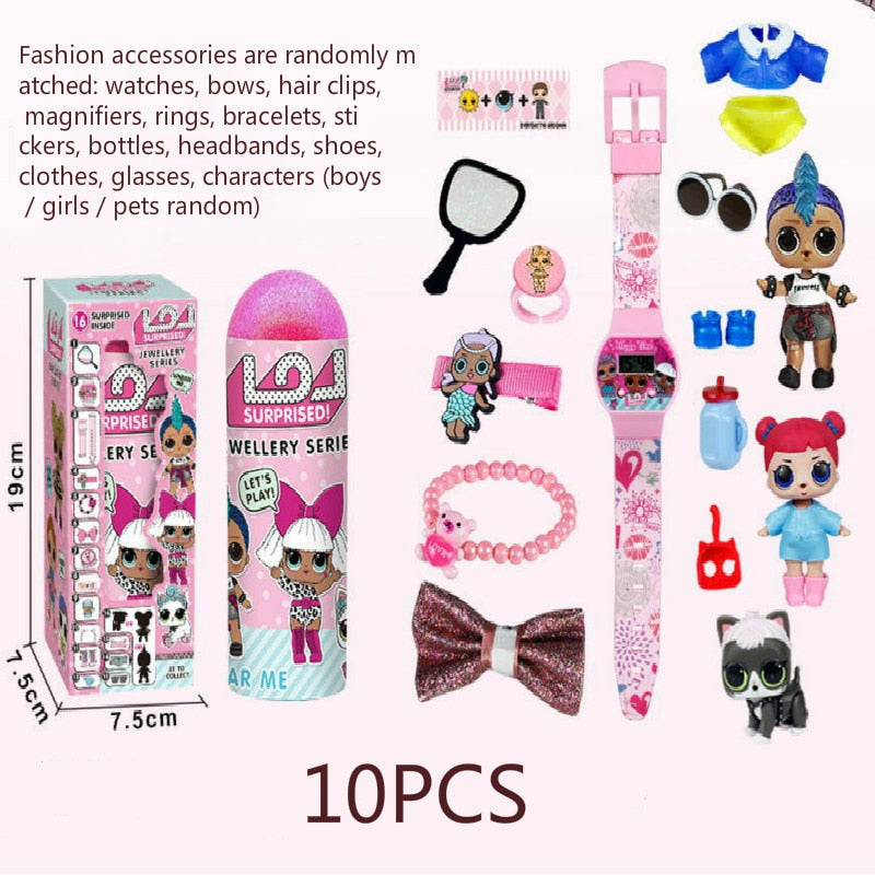 Original LOL SURPIRSE Dolls 5th Generation HAIR GOALS Magic DIY blind box lols dolls Action Figure model Girl's toy gift