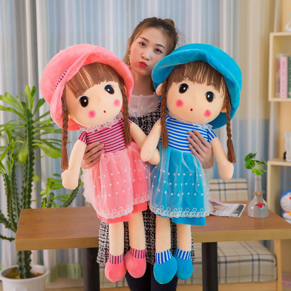 45cm Beautiful Doll Stuffed Toys Plush Animals Soft Kids Baby Toys for Girls Children Boys Birthday Gift Kawaii Cartoon Hot Doll