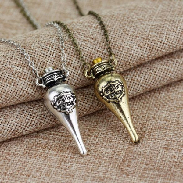 Doll Accessories Potter Vintage Small Medicine Bottle Pendant Two stlye Necklace Products decoration Christmas new year Gift toy