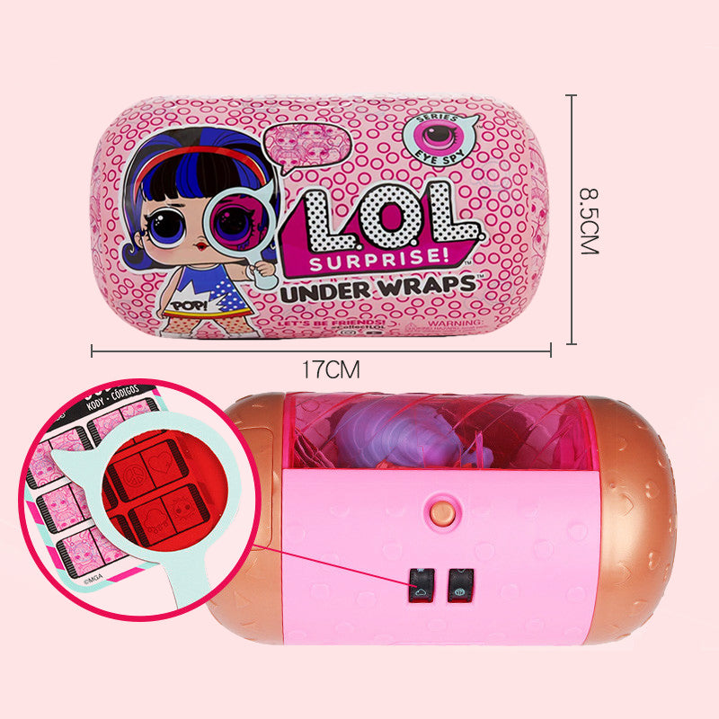 LOL surprise dolls Diy Disassembly Lock Unpacking lols dolls UNDER WRAPS Capsule Surprise Dolls Action Figures for girl's toy
