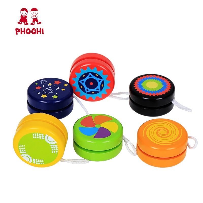 Wooden Yoyo Professional Toy Children Classic Toys Cool Magic Sport Outdoor Classic Play yo yo Ball yo-yo Toy For Kids PHOOHI