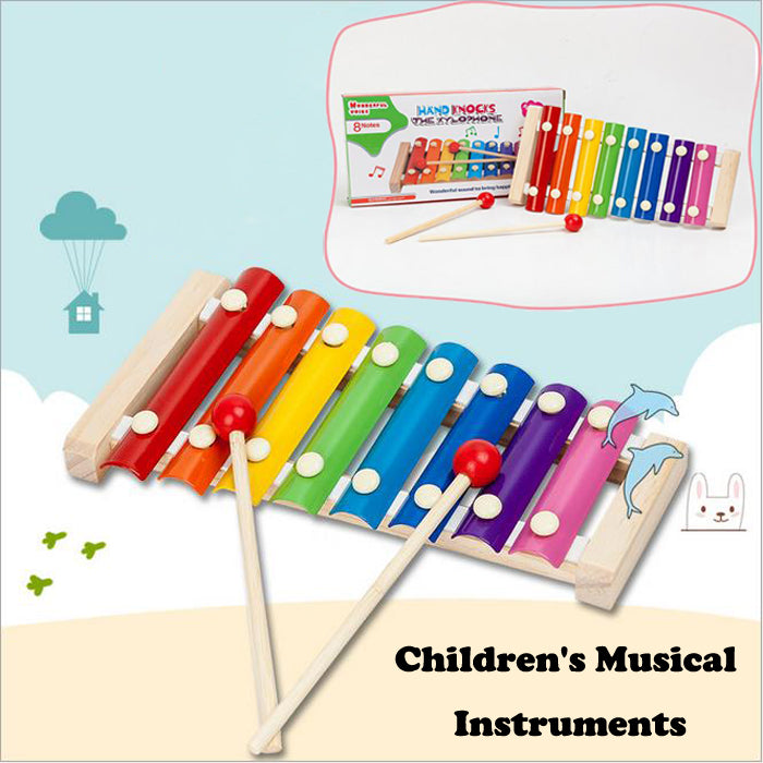 Musical Instruments Kid Baby Children Wooden Toddler Infant Xylophone Kids Developmental Toy Hot