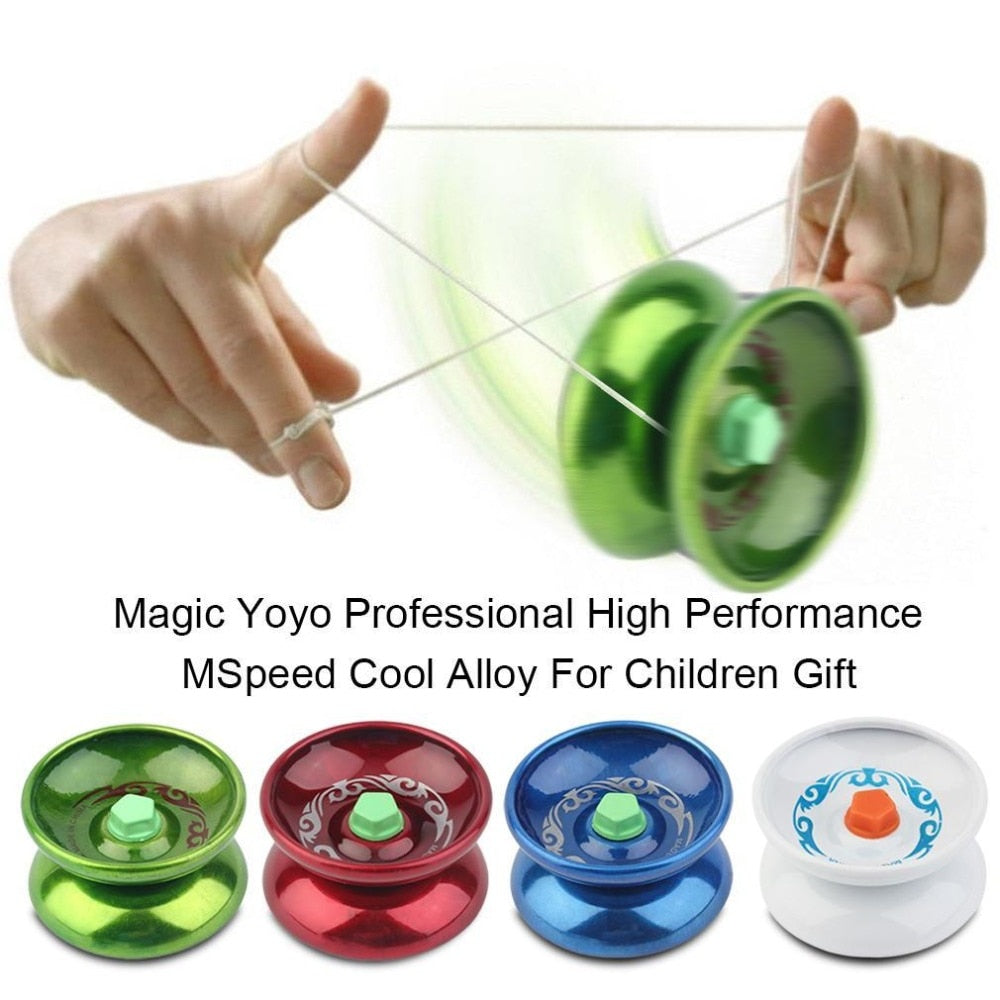 1 pcs hot sale Magic Yoyo Professional High Performance Speed Cool Alloy Metal For Children Classic Kids Toys Gift Drop Shipping
