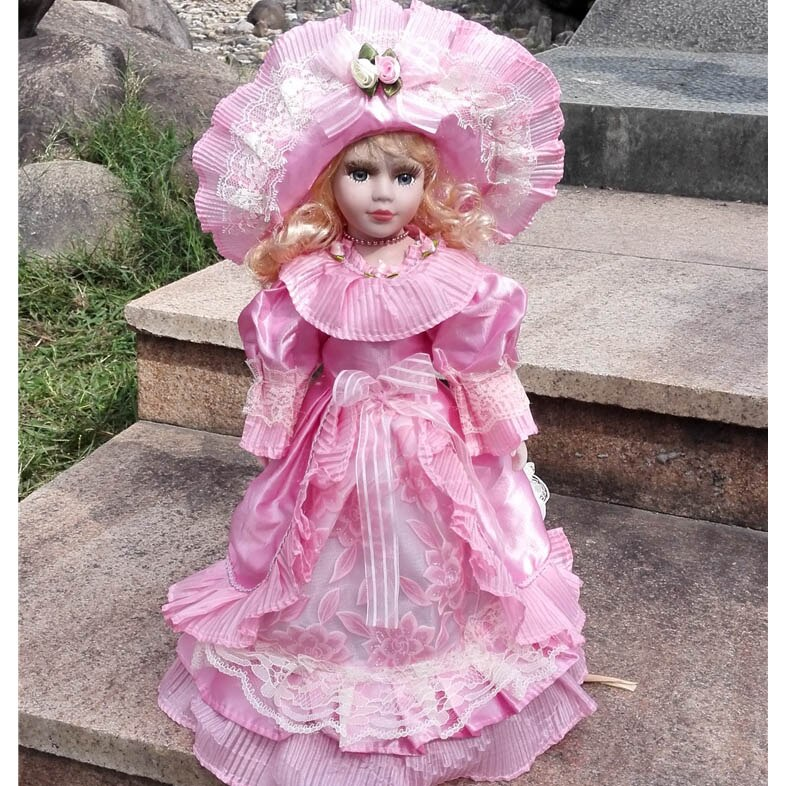 2018 Hot Sell European Style Victoria Style Russia Ceramic Classical Doll Noble Porcelain Doll Simulation doll Toy Gift For Girl