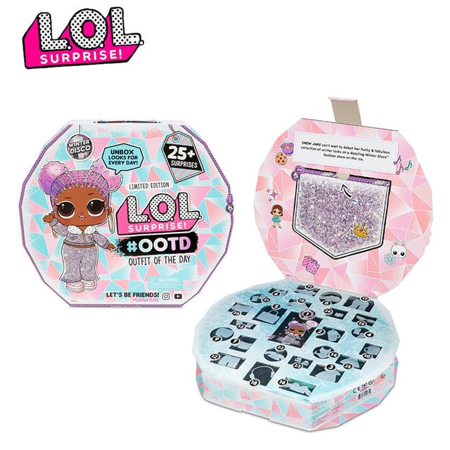 Original lol Surprise Doll Collect Newest Winter Disco Series Fashion Doll Blind Box DIY Handmade with Boy and Girl Toy Kid Gift
