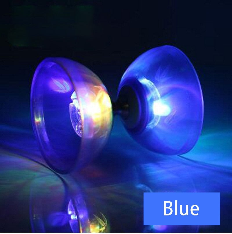 2018 Chinese Flashing 1/3/5 Bearings Clutch Resin Diabolo With Juggling String Professional YOYO Set Classic Toys For Children