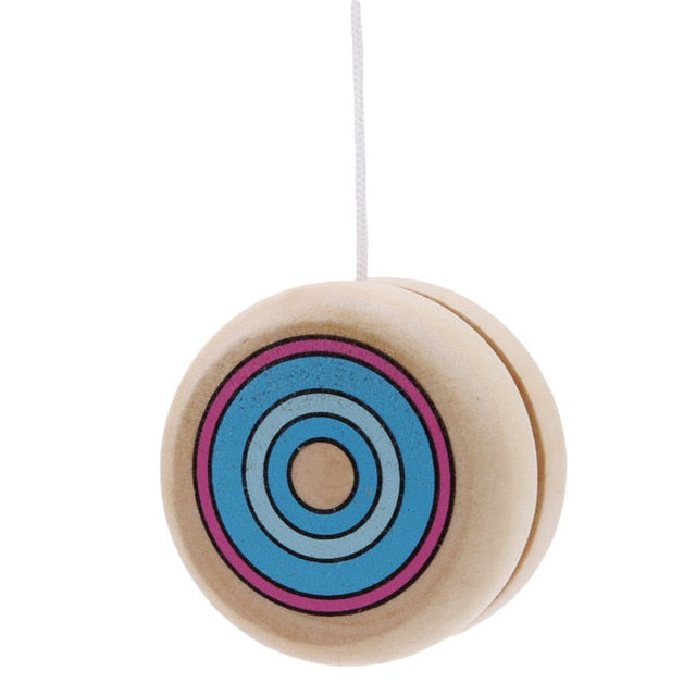 Classic Wooden YOYO Yo Yo Kids Classic Toys Xmas Gifts Party Favors Kindergarten School Carnival Loot Bag Filler