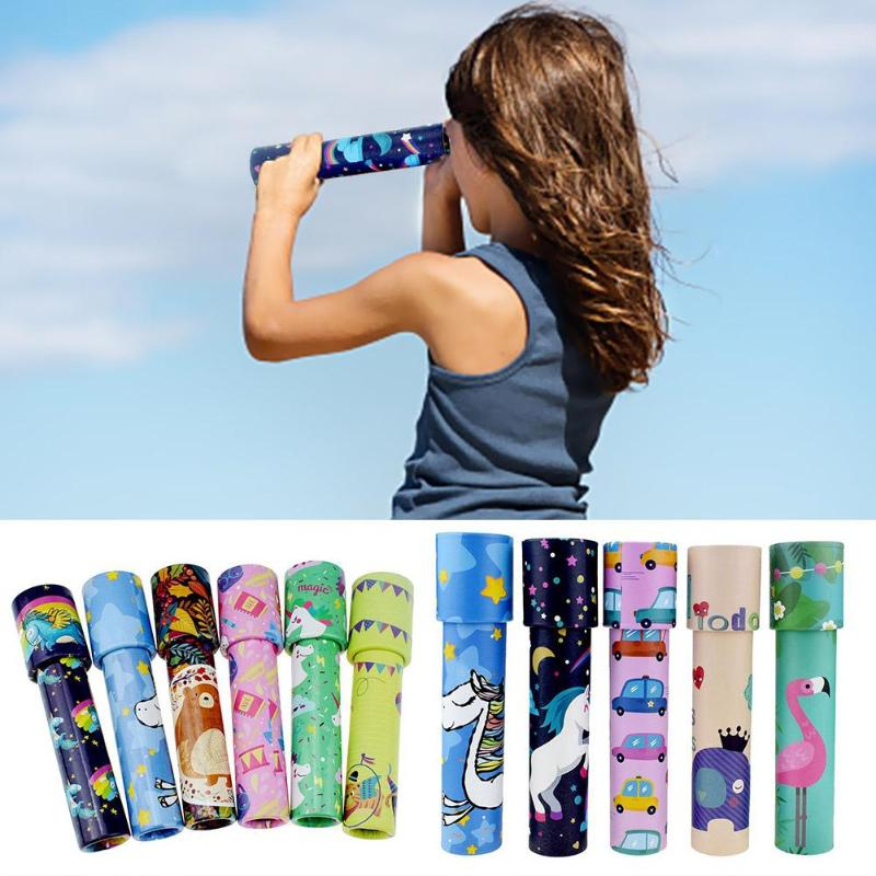 15/20cm Classic Toys Kaleidoscope Rotating Magic Colorful World Toy For Children Autism Kids Puzzle Toy Gift Color Random